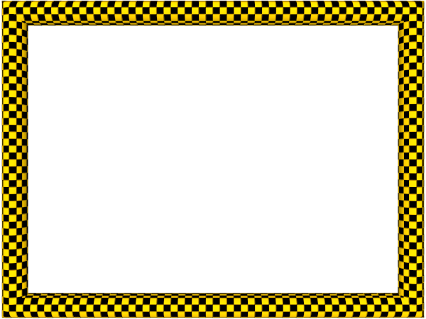 Cool border png. Yellow black funky checker