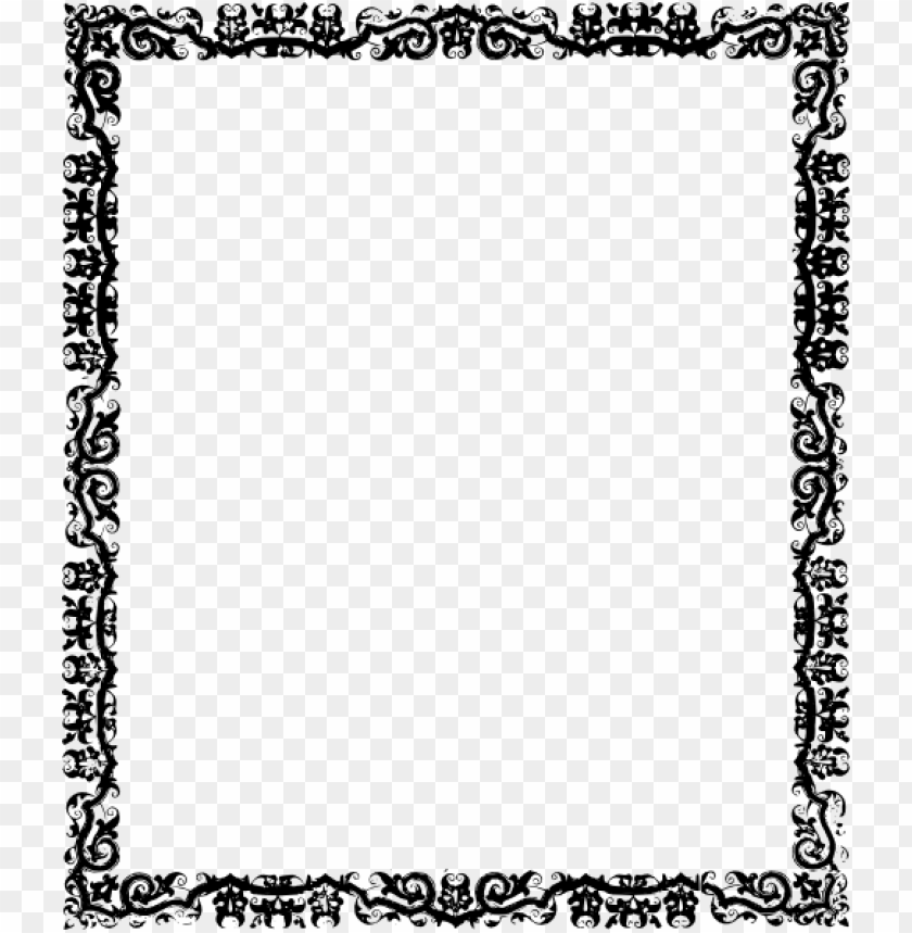Black and white borders. Cool border png