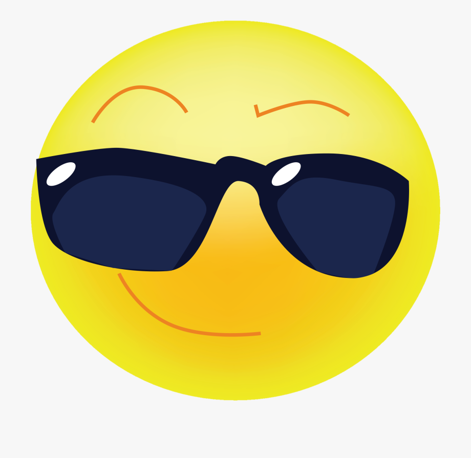 Cool clipart. Sunglasses emoji transperent emoticon