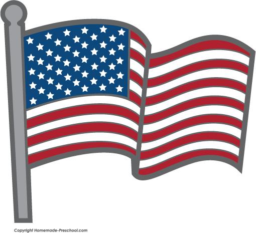 Free american flags . Usa clipart flagclipart