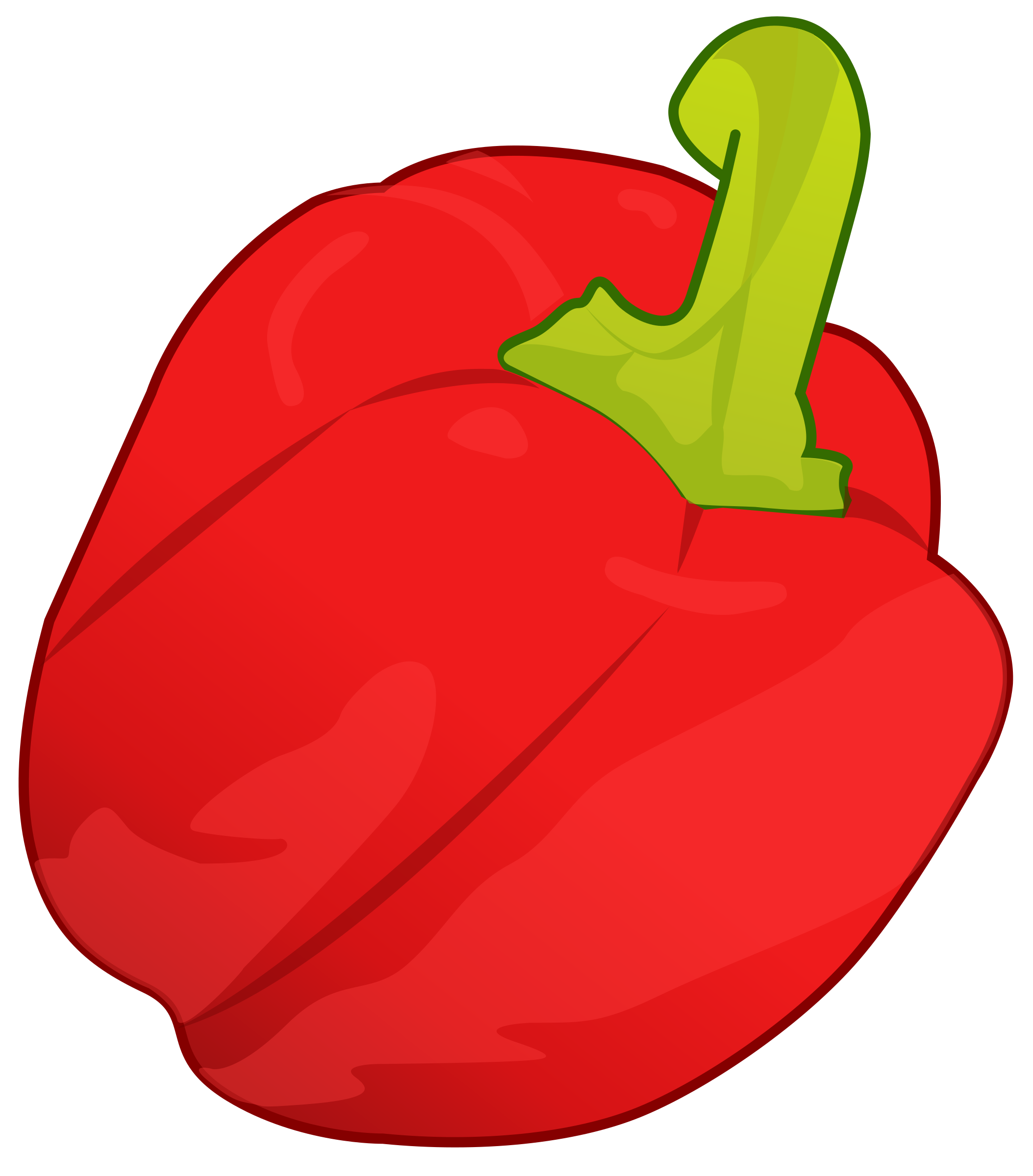 Red pepper big image. Peppers clipart cartoon