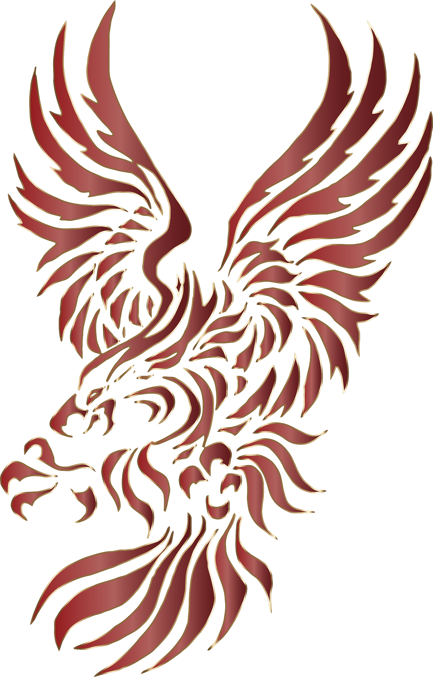 Chromatic tribal no background. Wing clipart eagle