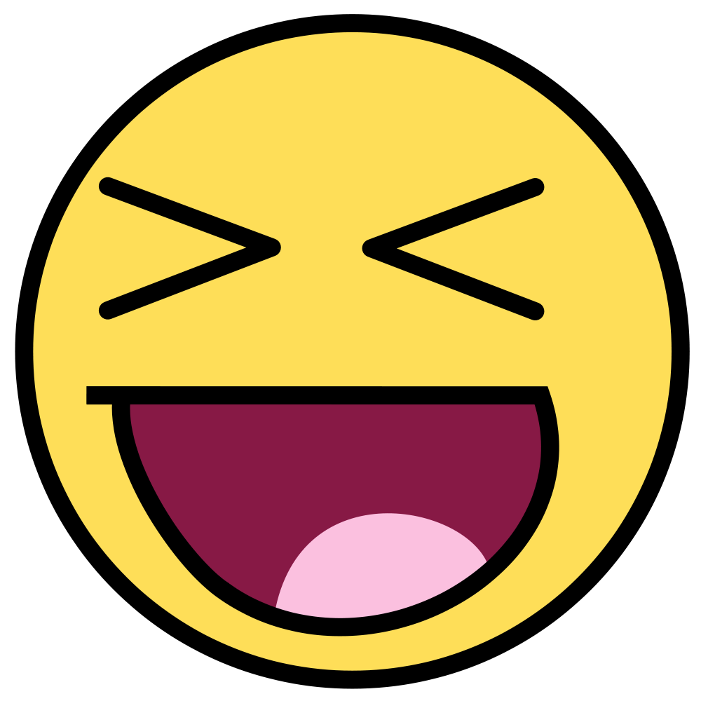 Excited clipart yellow happy face.  cool and best