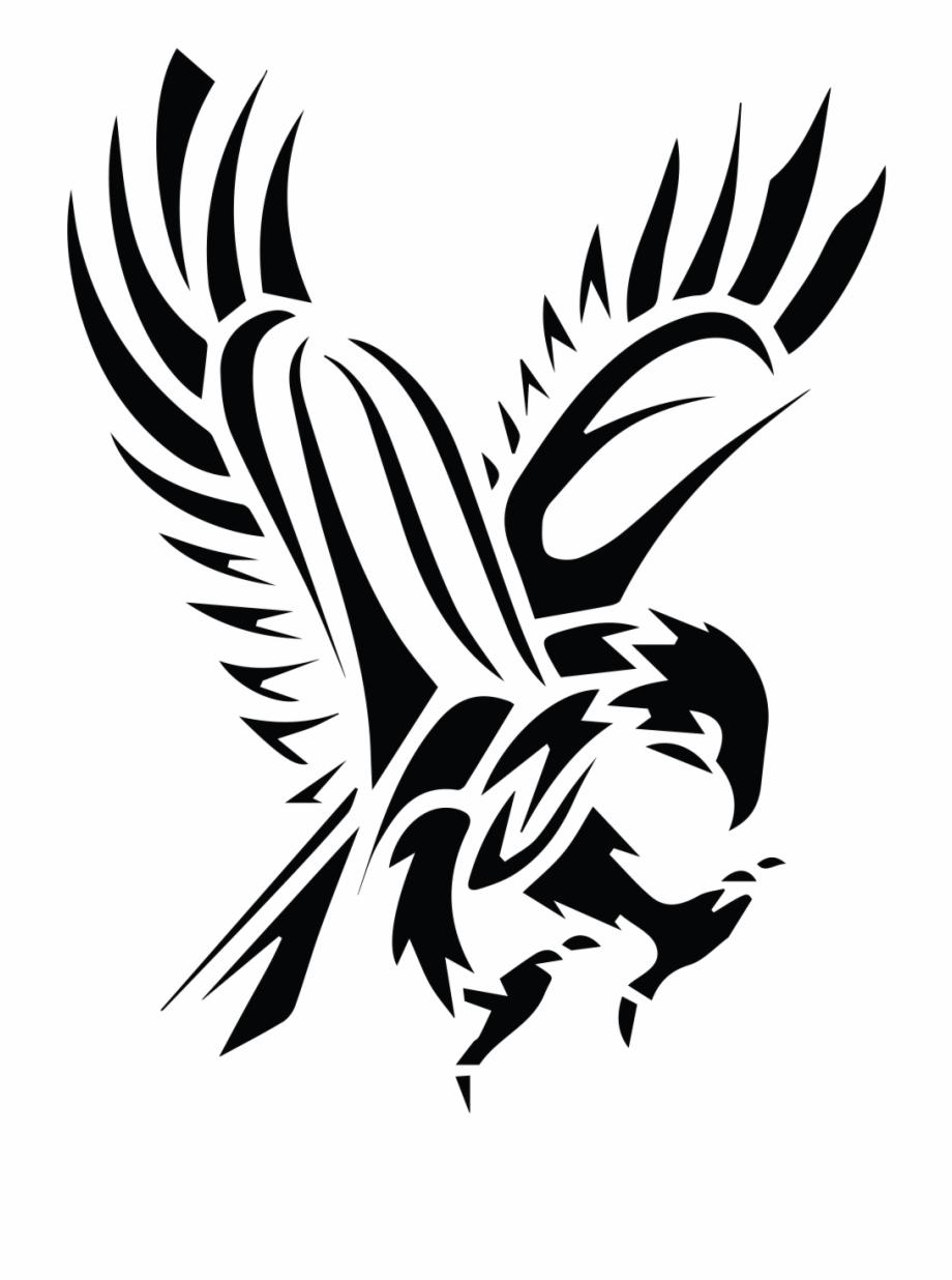 Drawn cool hawk clip. Falcon clipart stencil