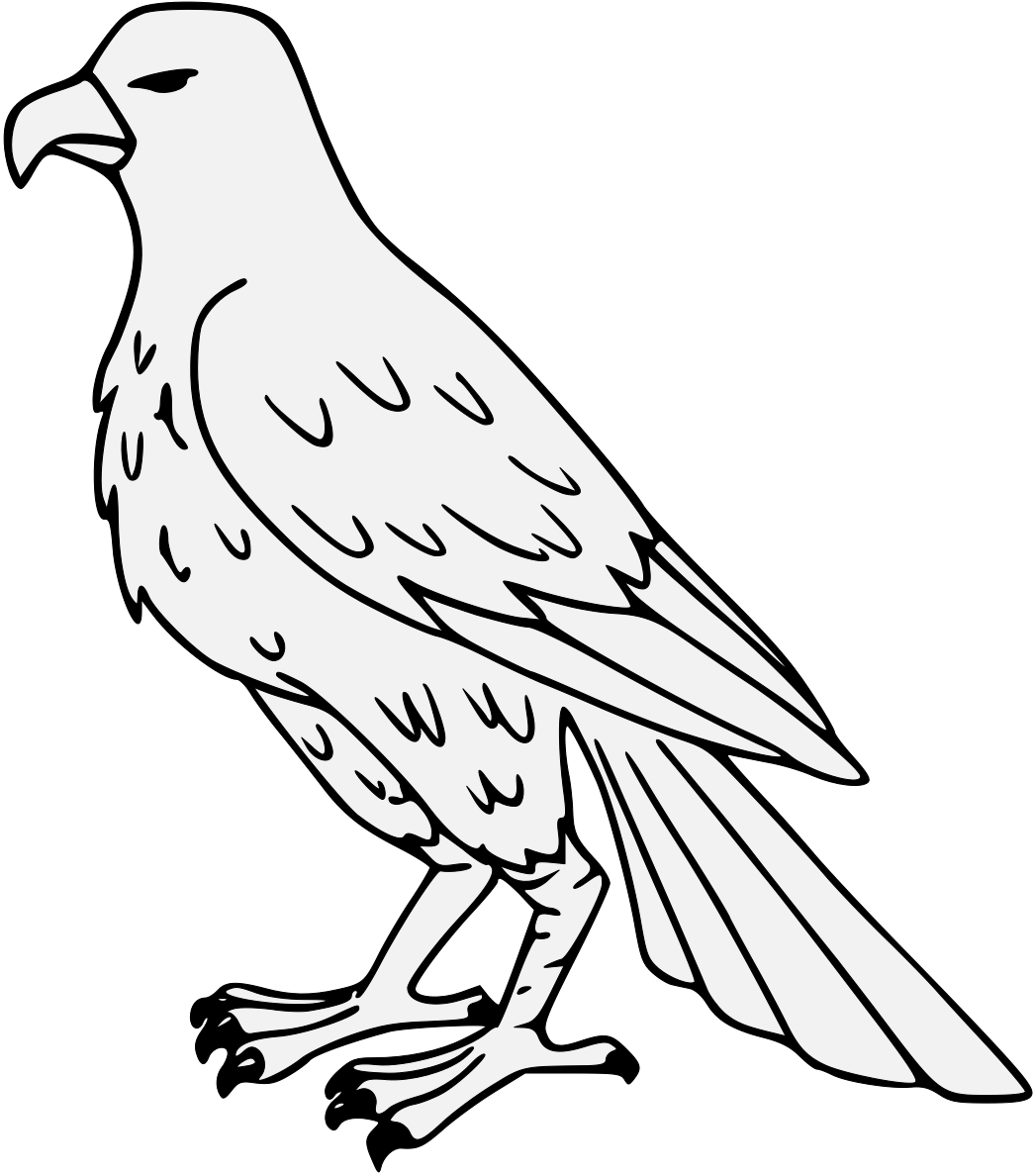 Cool clipart falcon. Line drawing at getdrawings