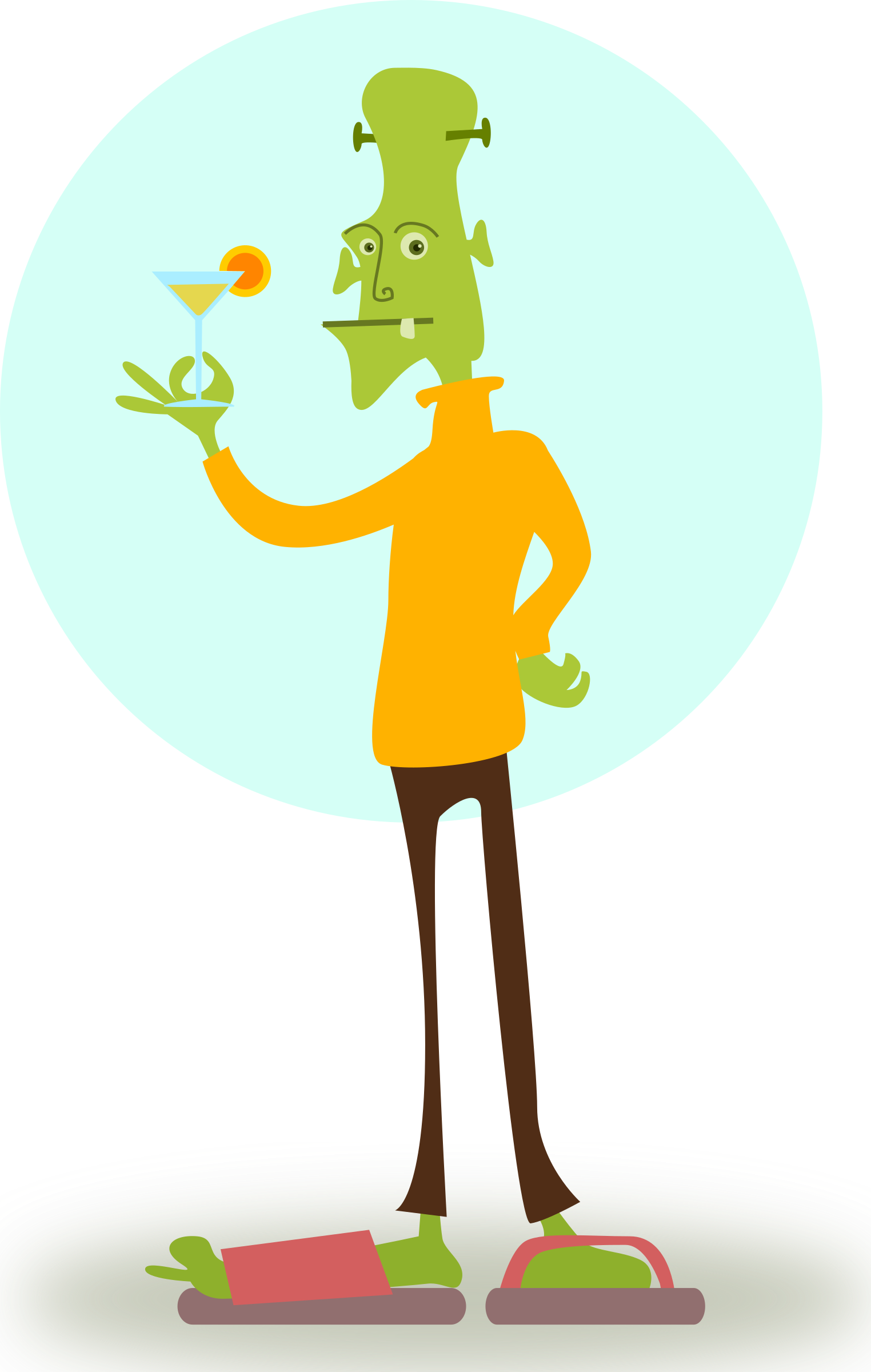 Cool clipart fashionable. Ghoul big image png