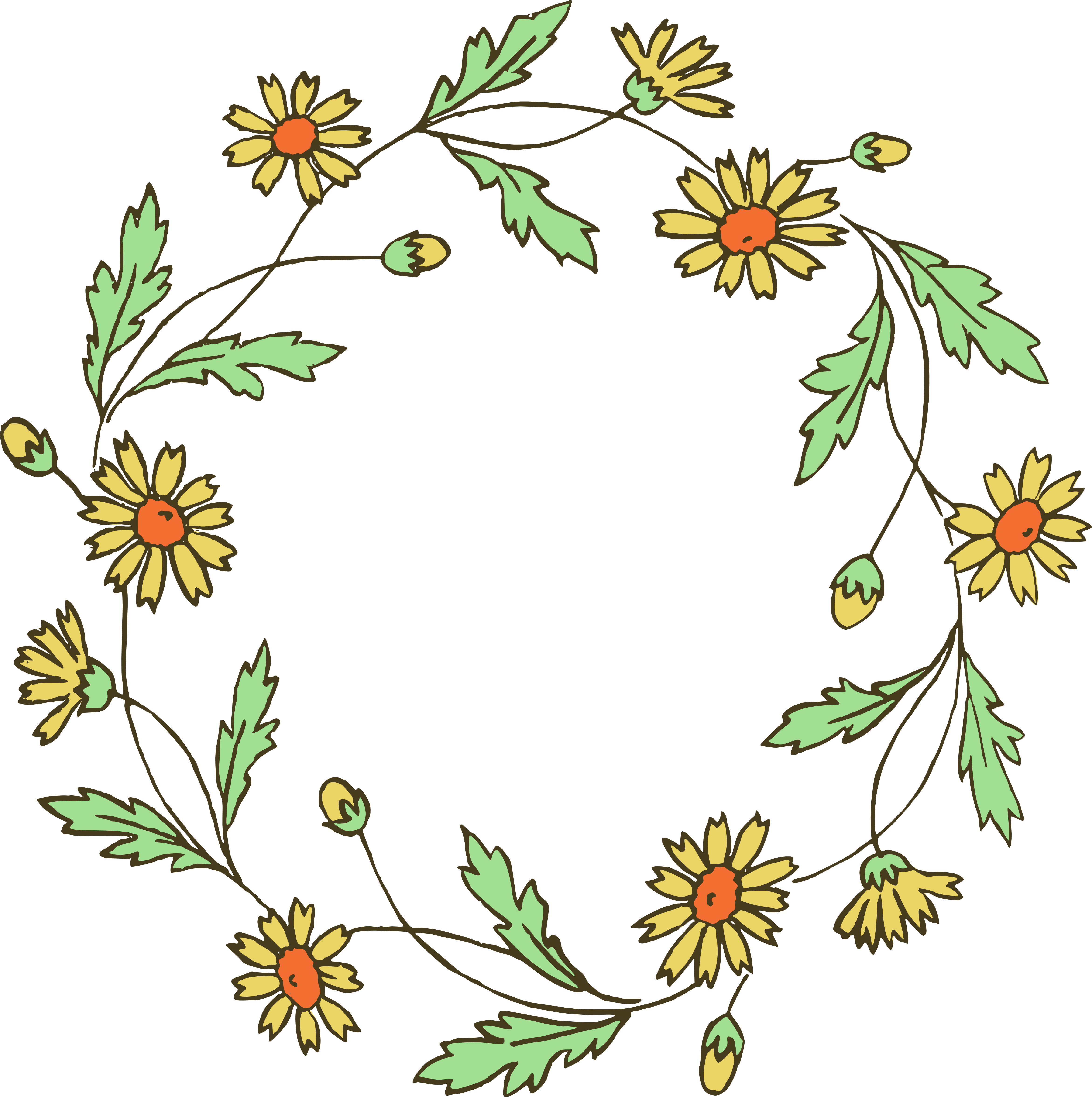 Flower no background free. Scroll clipart rustic