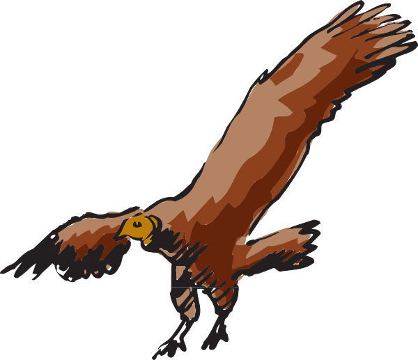 Flying clip art at. Wing clipart vulture