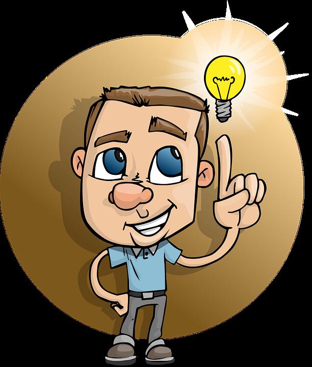 Idea smart man free. Daydreaming clipart board exam