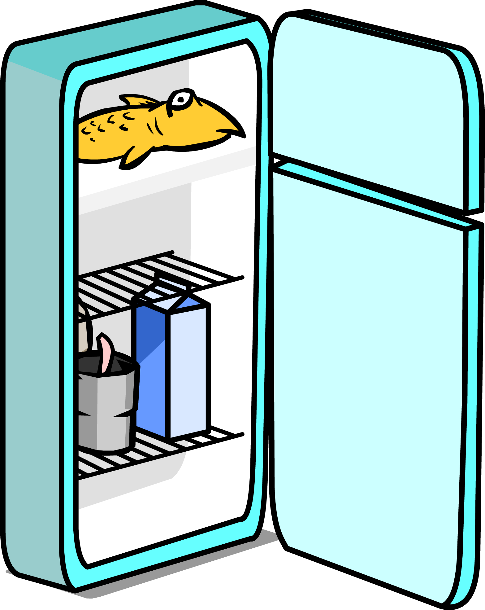 Fridge clipart labeled. At getdrawings com free