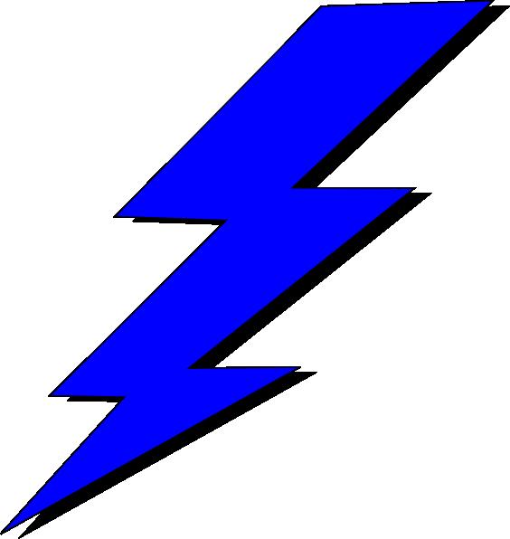lightning clipart blue