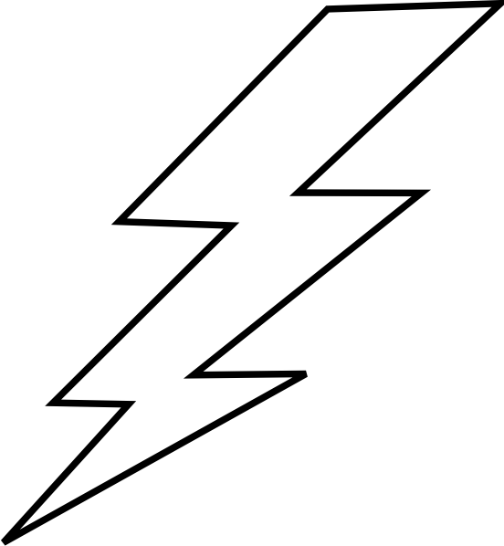 Youtube clipart lightning. Free bolt stencil lightening