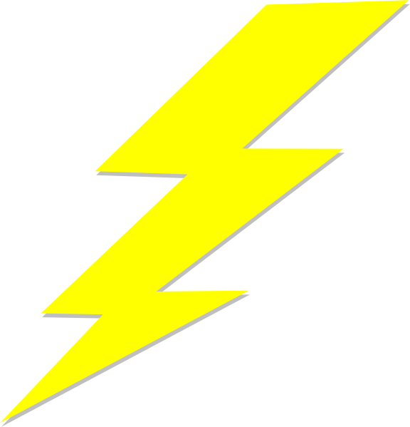 Cool clipart lightning bolt. Clip art at clker