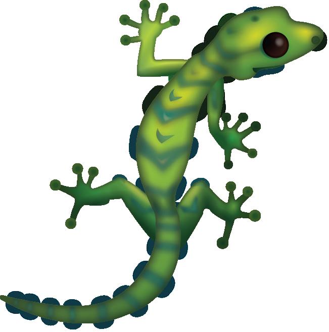 Gecko clipart transparent background. Download lizard iphone emoji