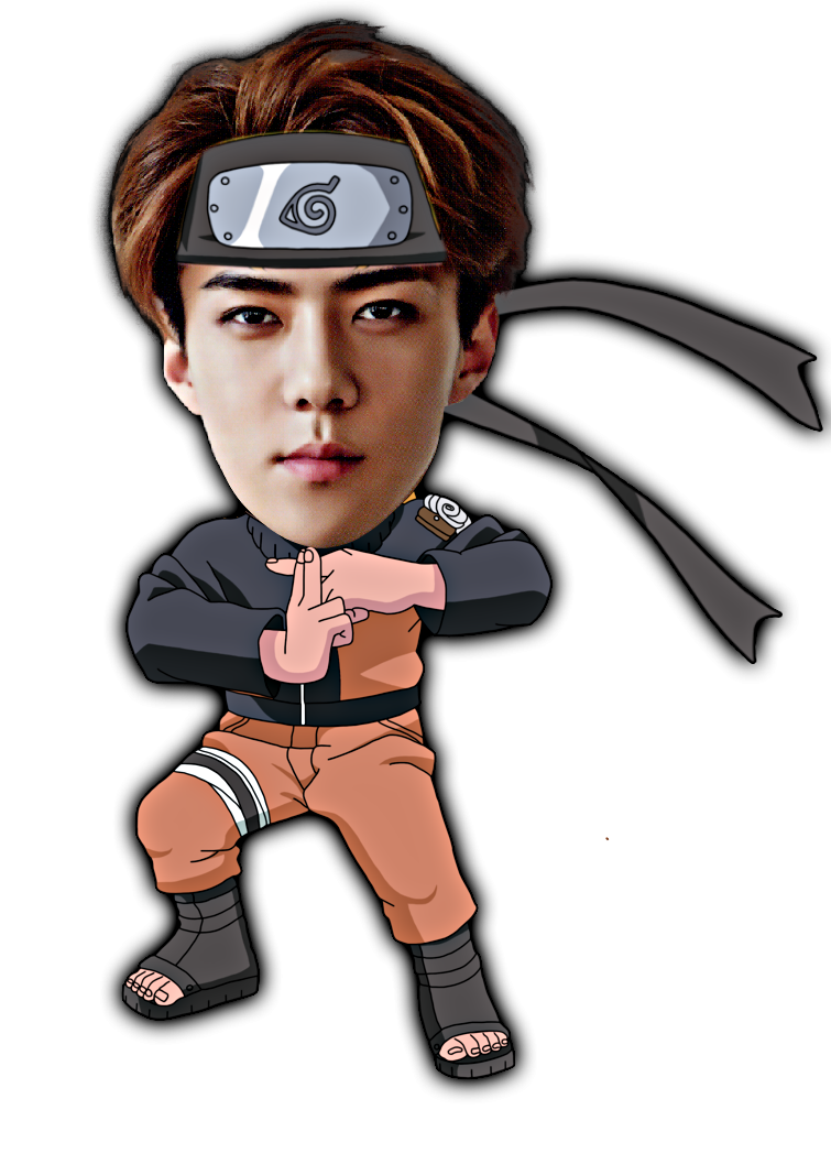Sehun version png by. Cool clipart naruto