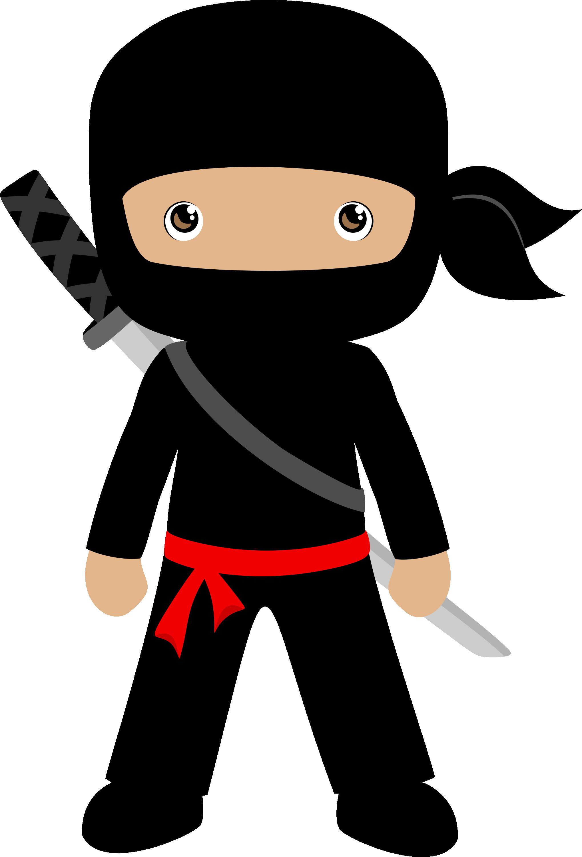 Minus hinh de thuong. Ninja clipart kid ninja