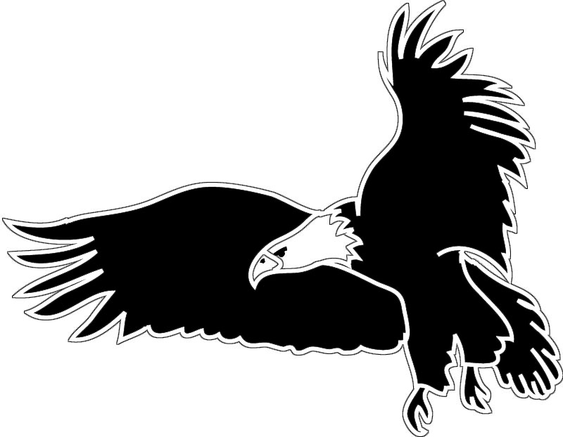 Eagles clipart bird african. Free silhouette art download