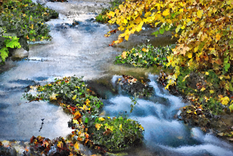 Nature clipart creek. High poly raclawka valley