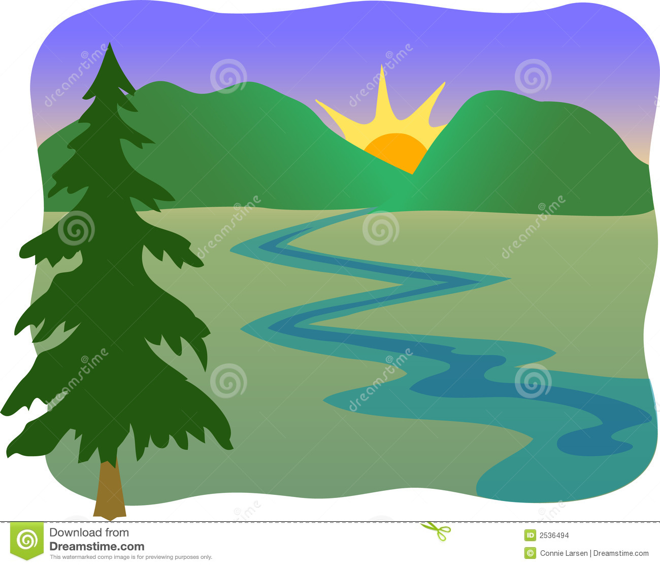 Hiking clipart stream. River free download best
