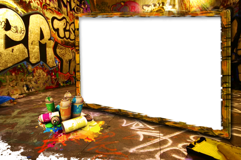 Photo frames graffiti. Cool frame png