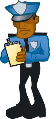 Police officer the arts. Cop clipart