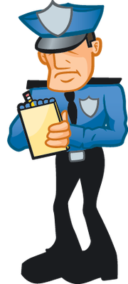 Writing ticket the arts. Cop clipart
