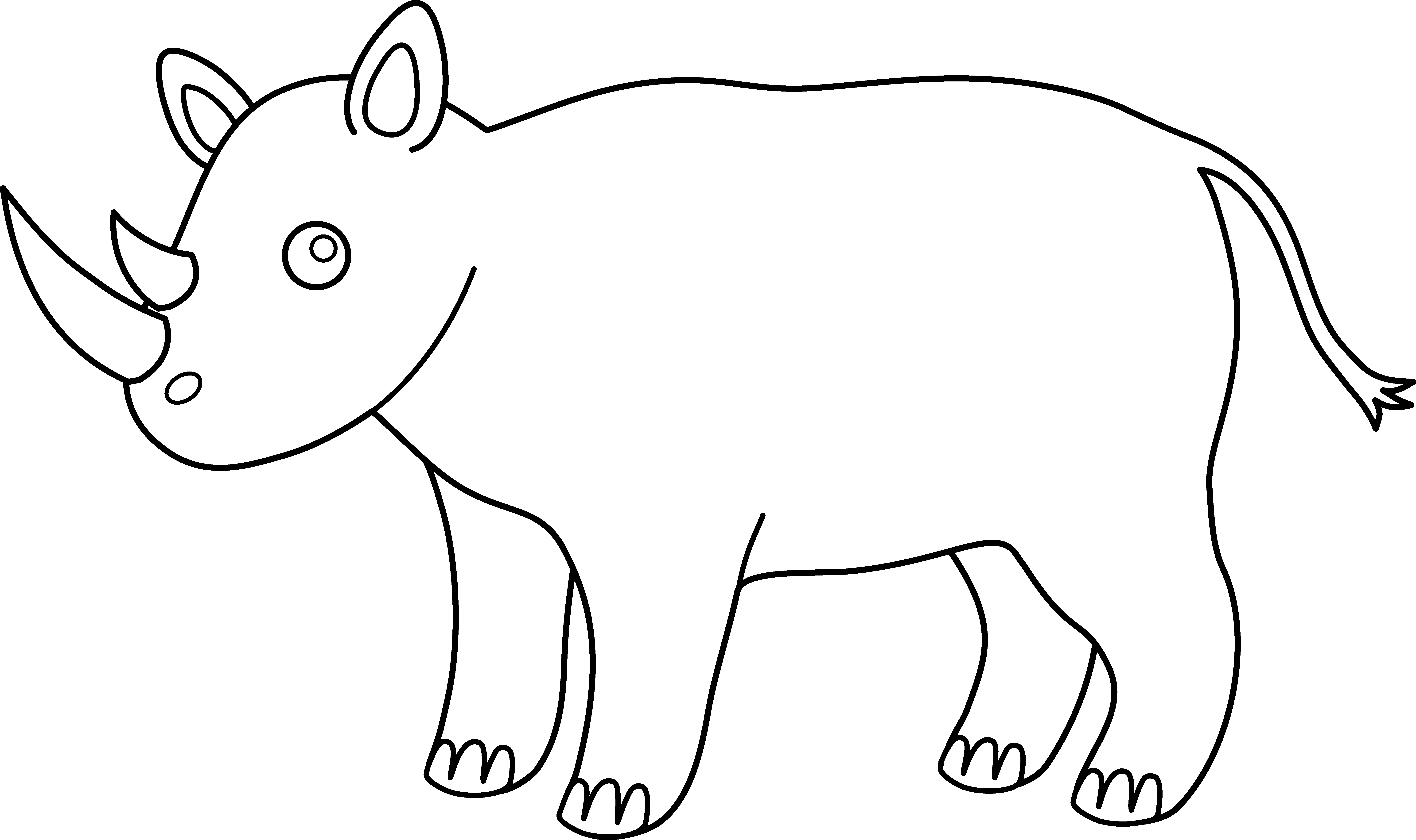Sad clipart rhino. African free on dumielauxepices