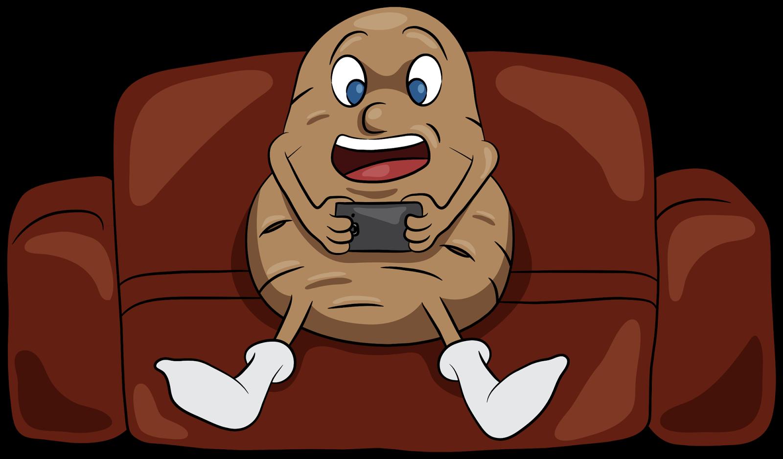 Potato news january movie. Couch clipart comic