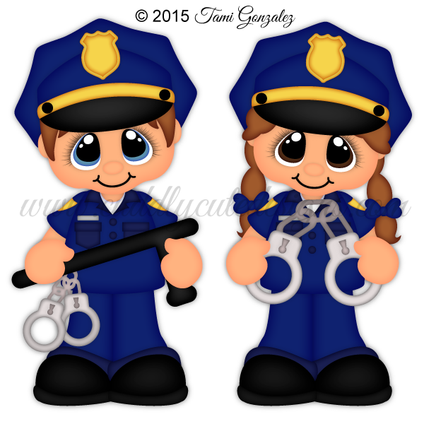Girl clipart police. Career cuties officer patrones