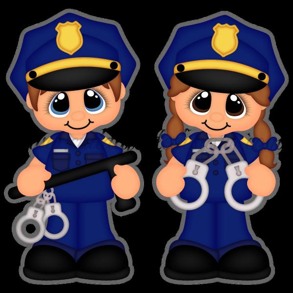 Girls clipart police officer. Career cuties patrones pinterest