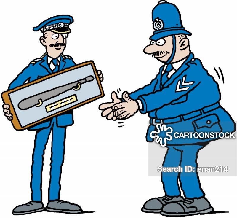 Cartoons and comics funny. Cop clipart commissioner