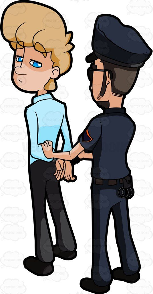 Cartoon free download best. Crime clipart detained