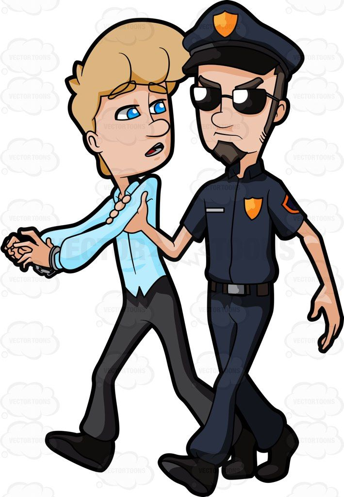 crime clipart detained