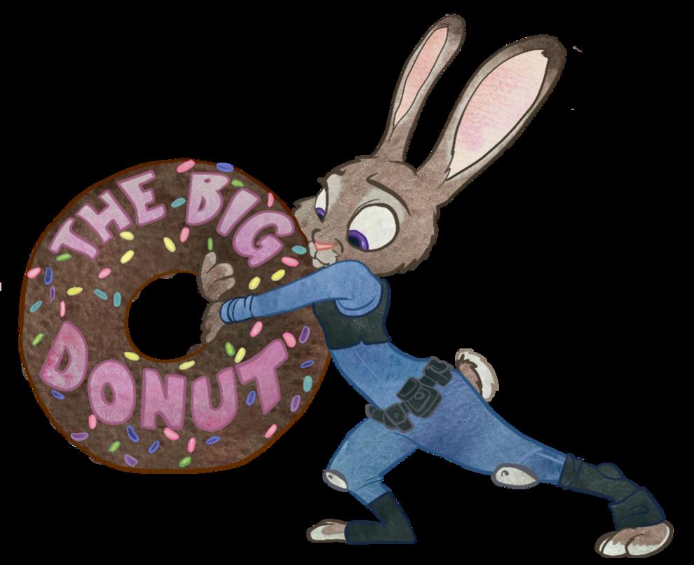 Judy hopps have a. Doughnut clipart animated