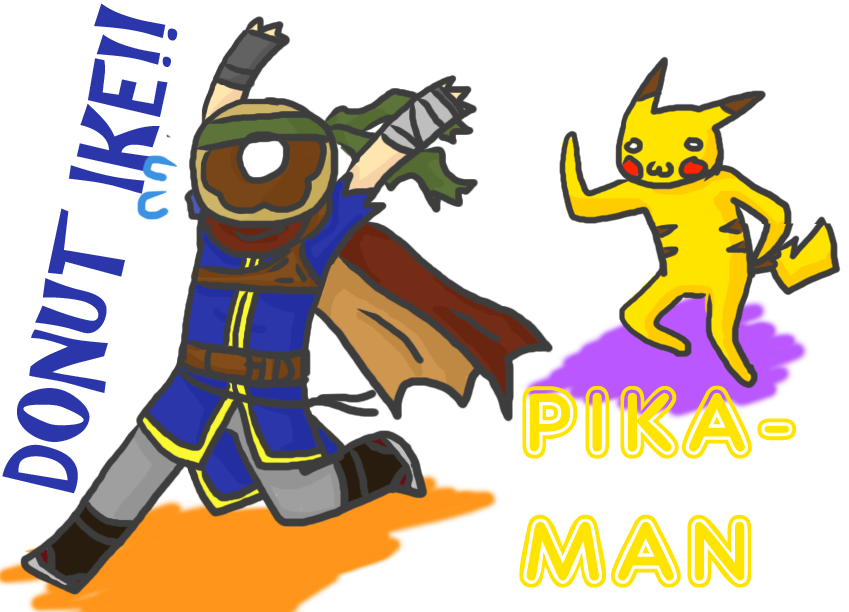 Ike and pika by. Doughnut clipart donut man