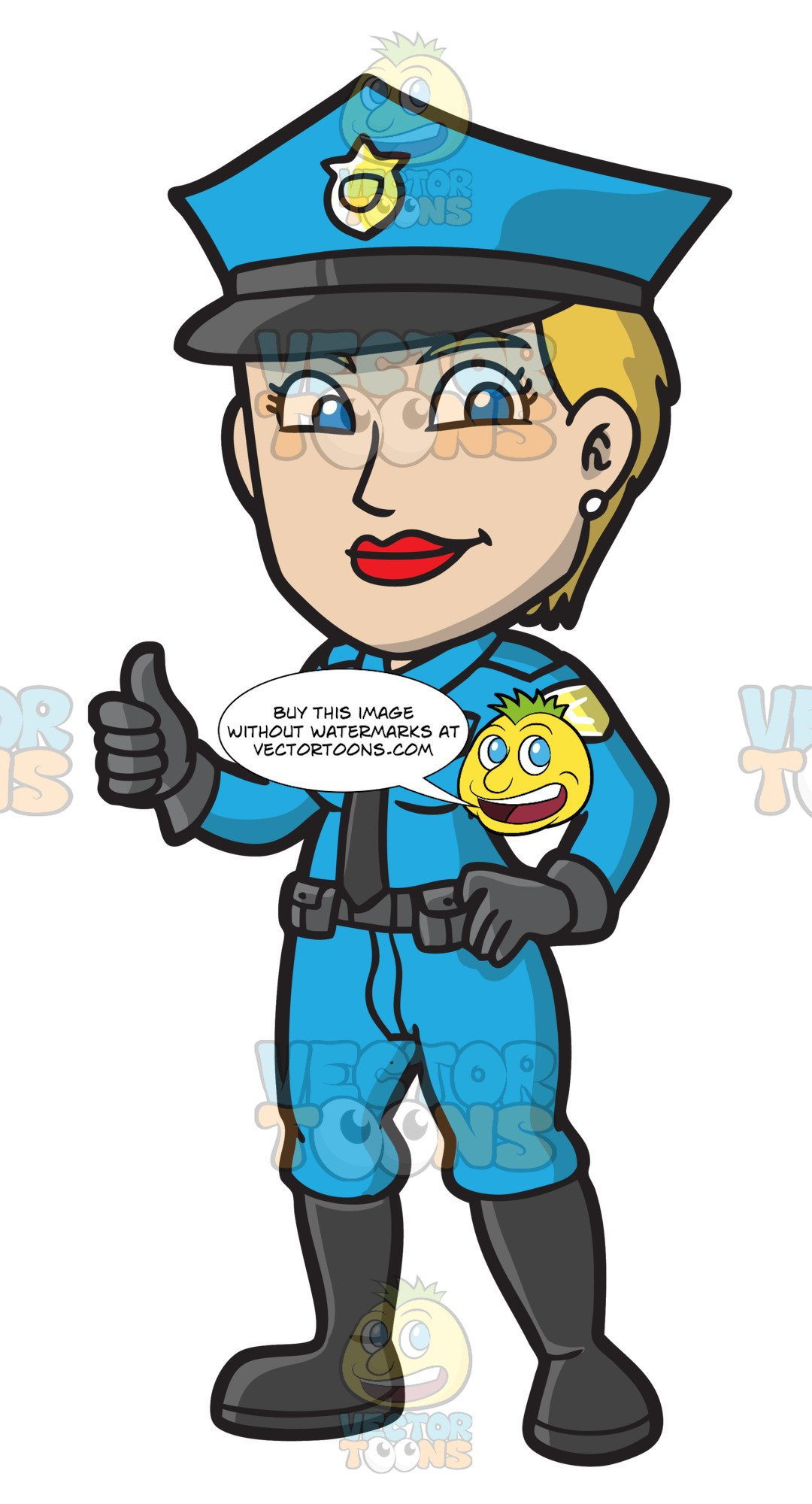 A female police giving. Cop clipart peace officer