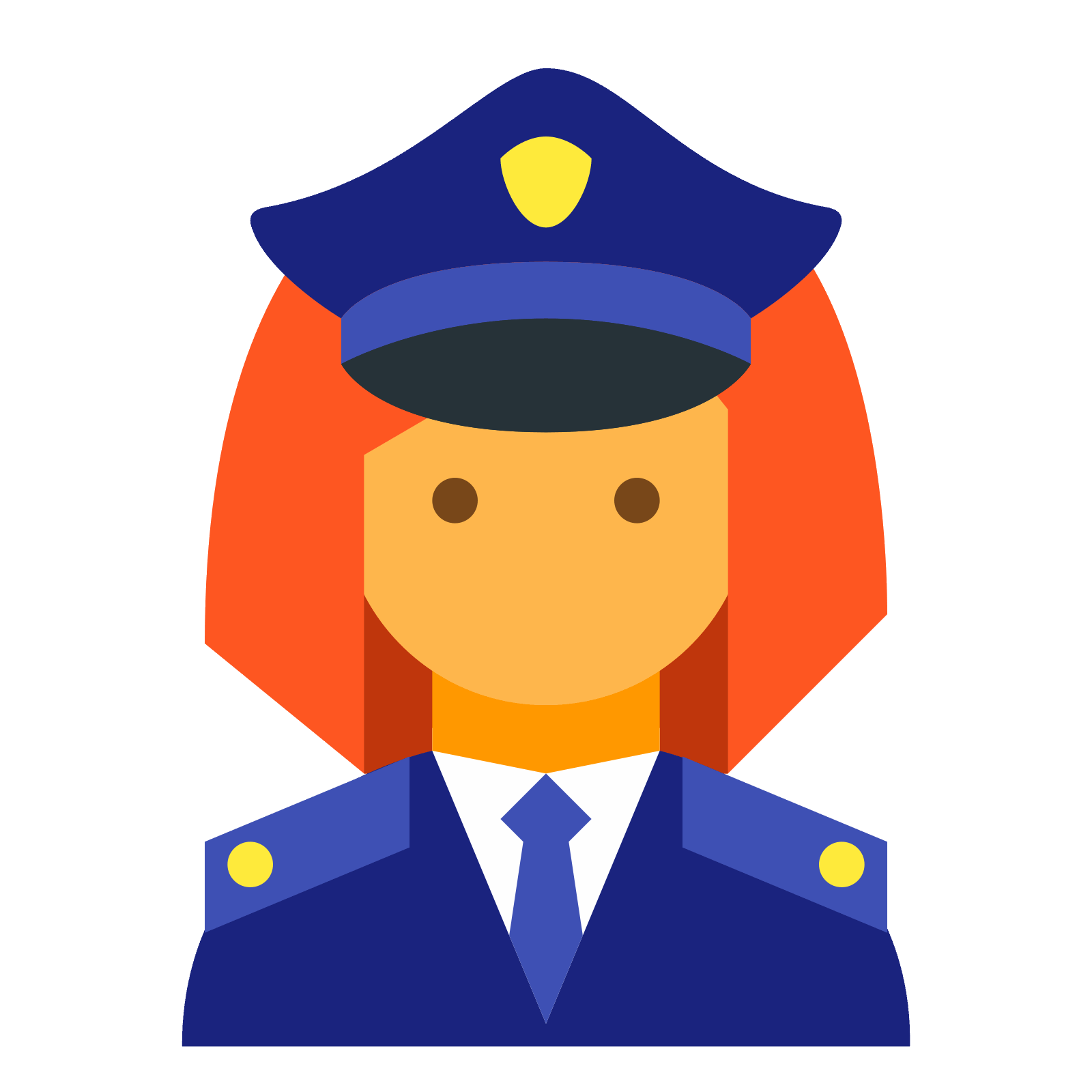 Female icono descarga gratuita. Policeman clipart police mobile