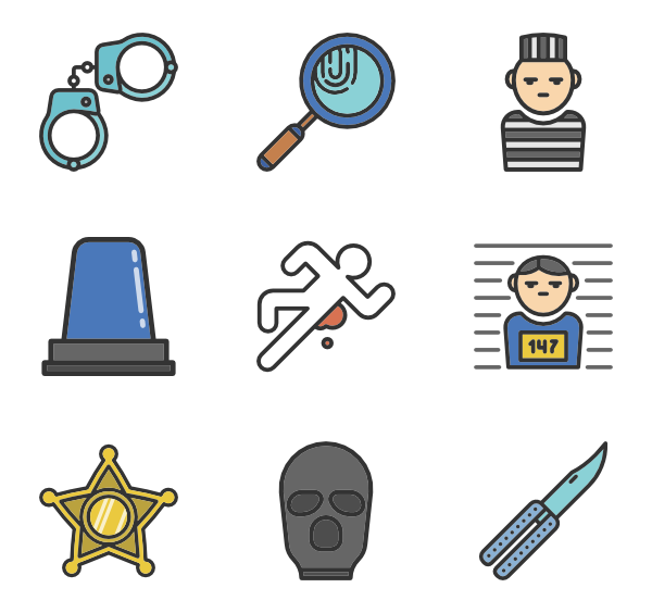 Police clipart robber. Icons free vector elements