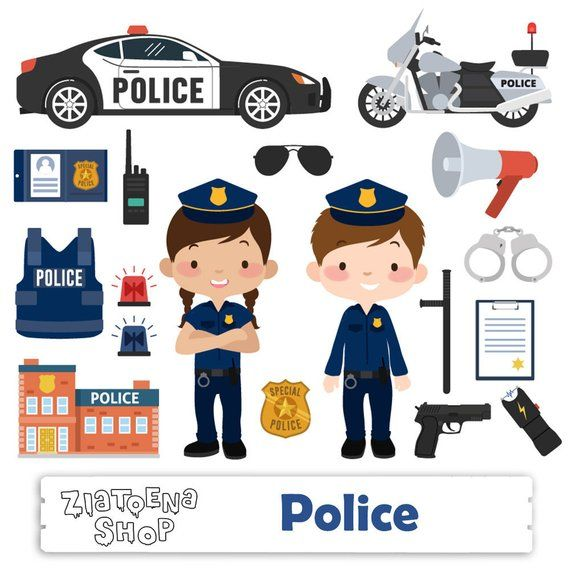 Little police clip art. Handcuffs clipart printable