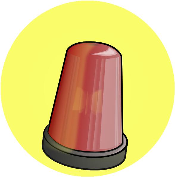 Police car alarm clip. Lamp clipart animation
