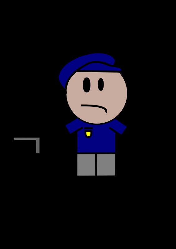 Cop clipart policman. Police stick figure medium