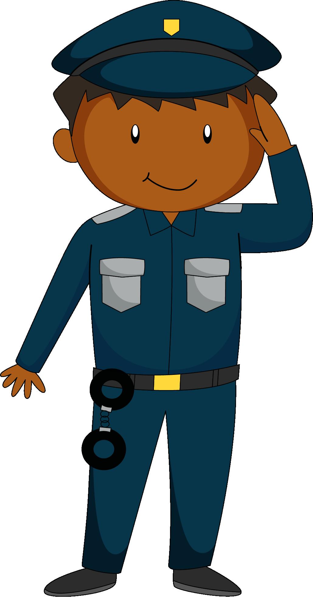 Policeman salute