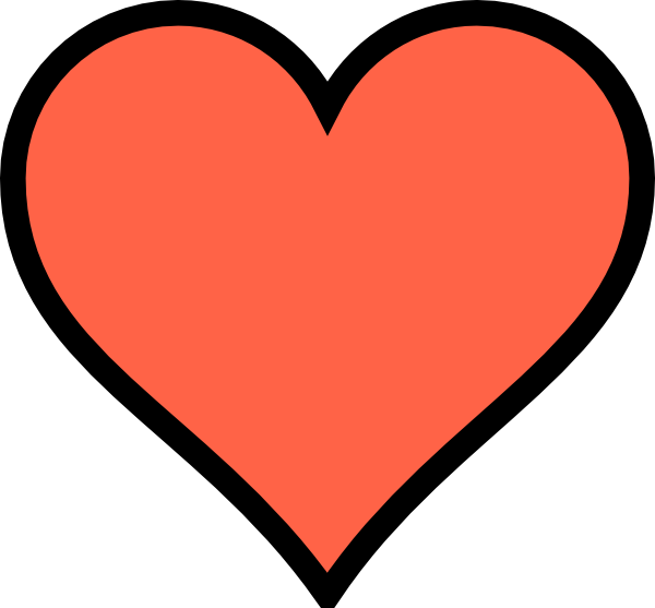 Coral colourful free on. R clipart heart
