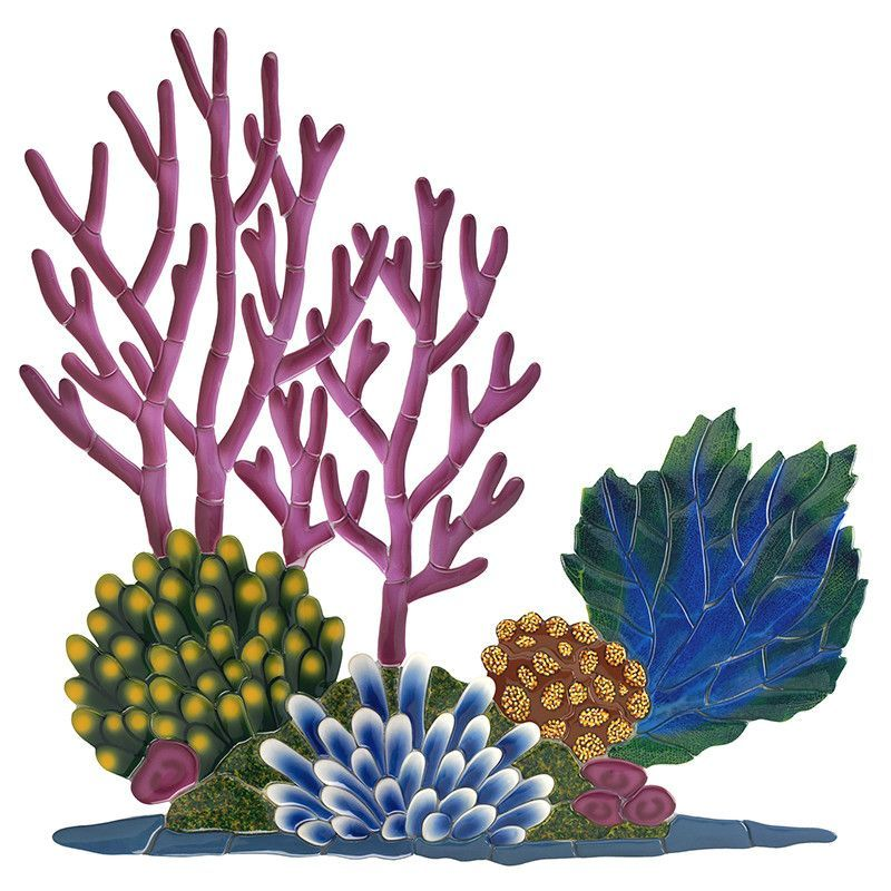 Coral clipart coral bleaching. Reef pool mosaic corals