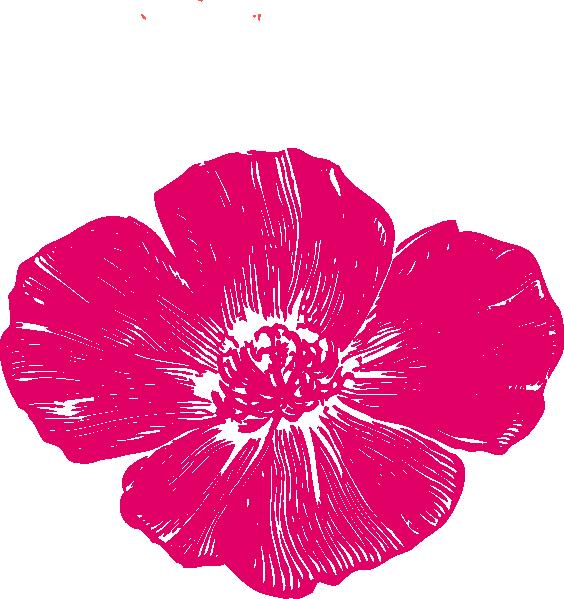 Poppy clipart svg. True pink clip art
