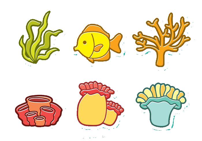 Fish illustration cartoon and. Orange clipart coral reef