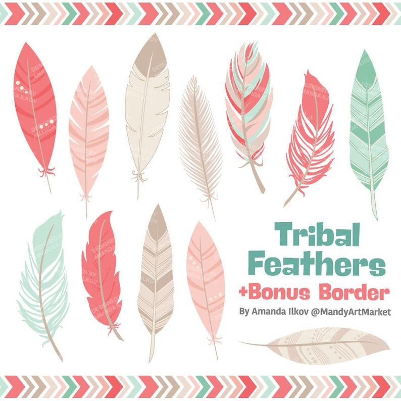 Professional tribal vectors in. Feathers clipart fether