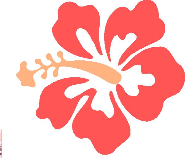 Logo clipart flower. Coral hibiscus clip art