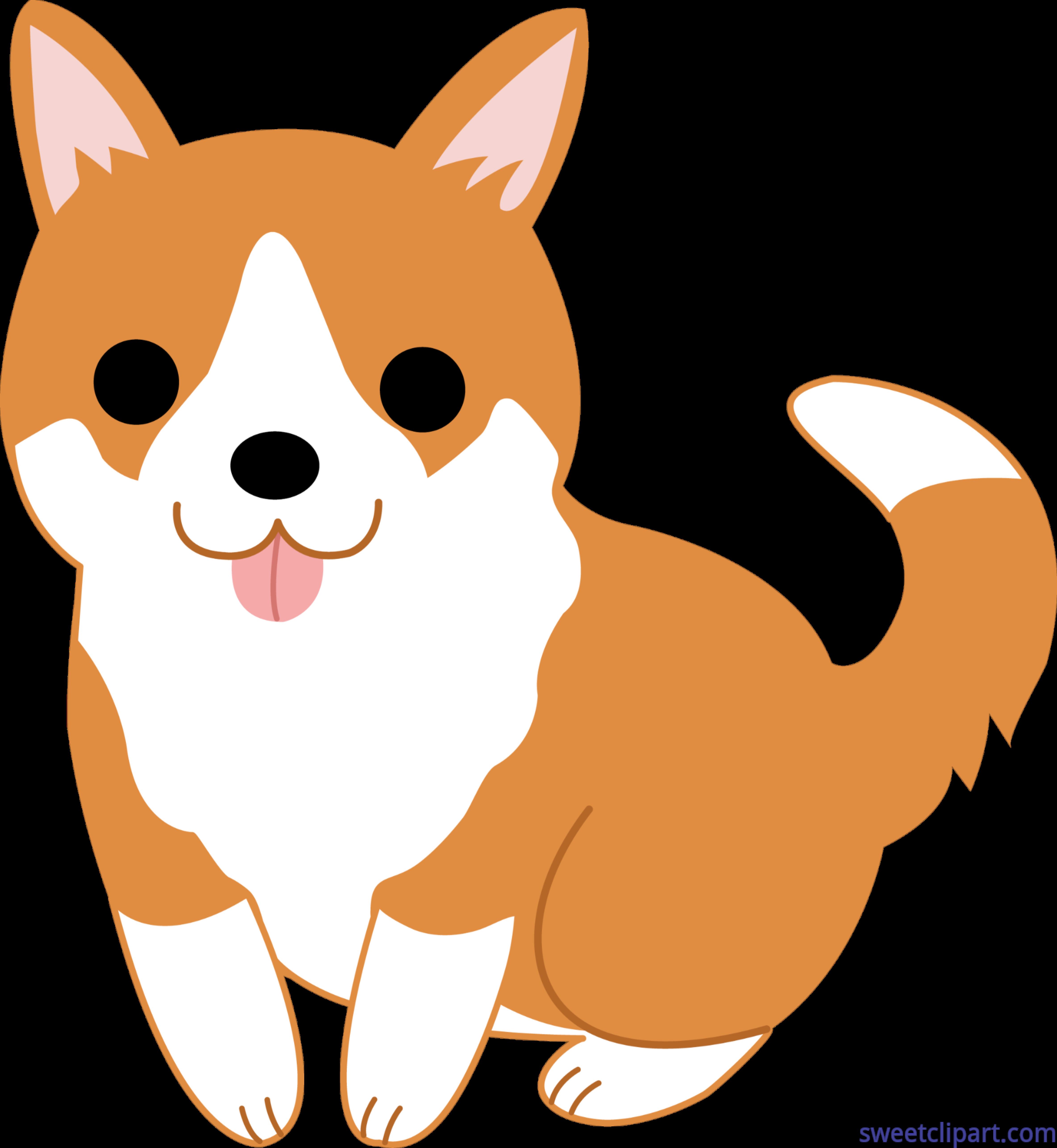 Corgi clipart. Cute puppy clip art