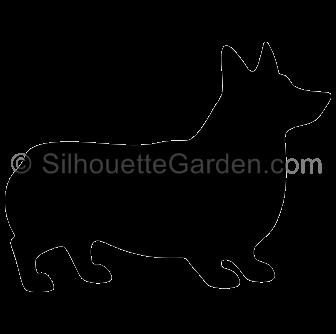 Silhouette clip art download. Corgi clipart